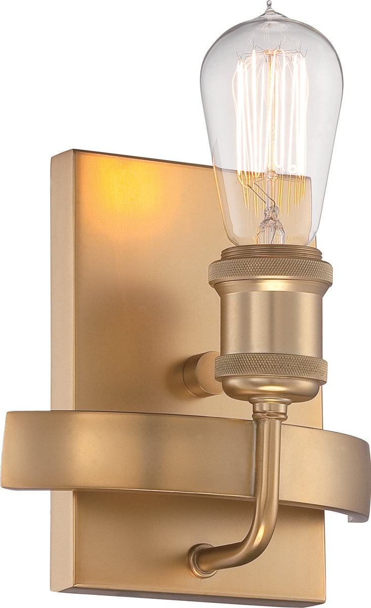 "7""W Paxton 1-Light Vanity & Wall Natural Brass"