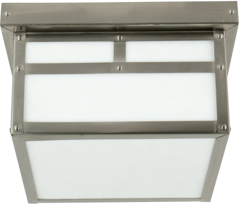 Mission 1-Light Outdoor Flush Mount Stainless Steel