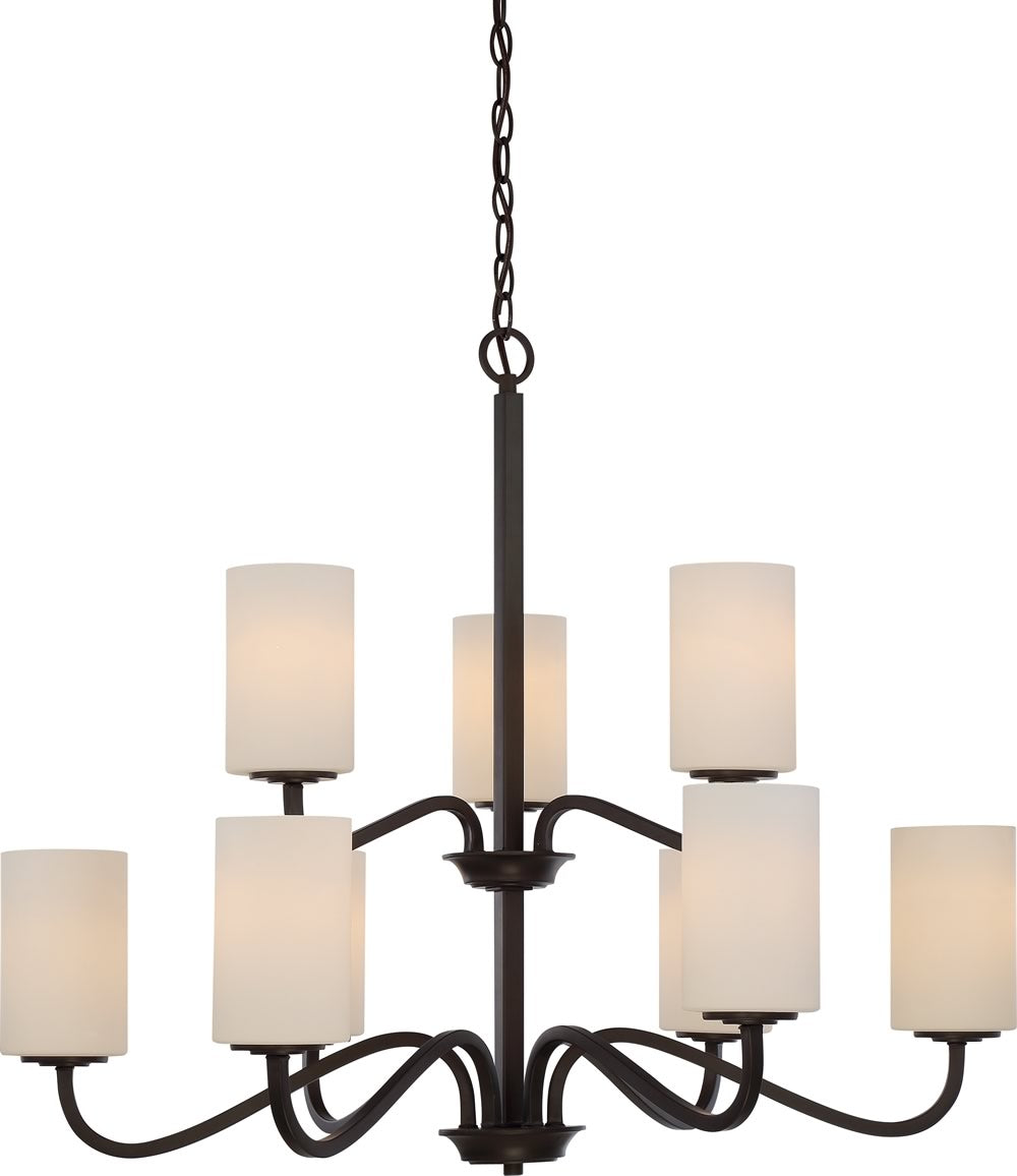 "32""W Willow 9-Light Chandelier Forest Bronze"