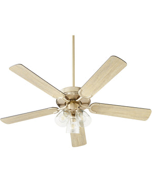 Virtue 3-light LED Ceiling Fan Aged Brass