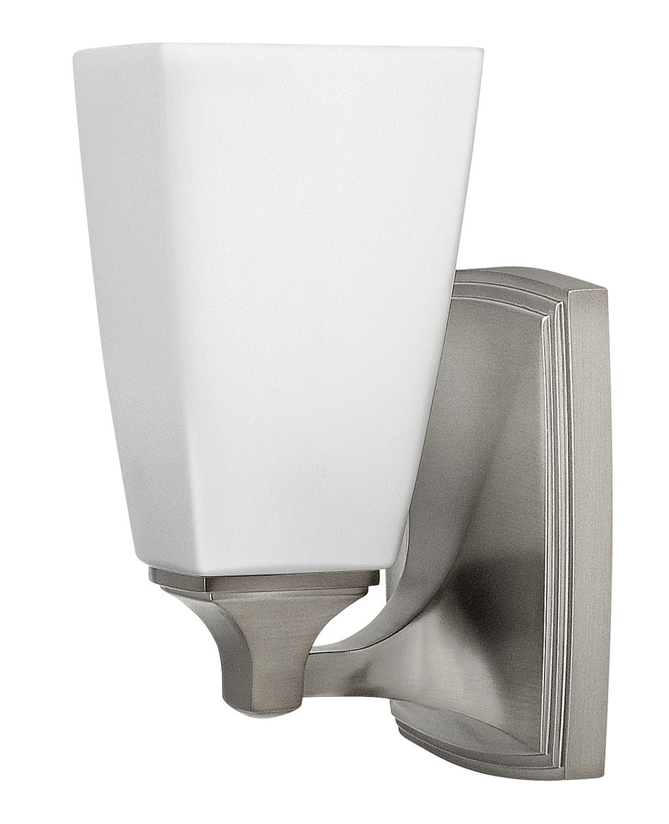 "6""W Darby 1-Light Bath Sconce in Brushed Nickel"