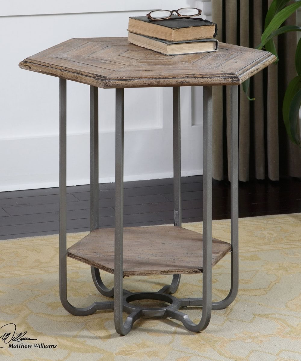 "26""H Mayson Wooden Accent Table"