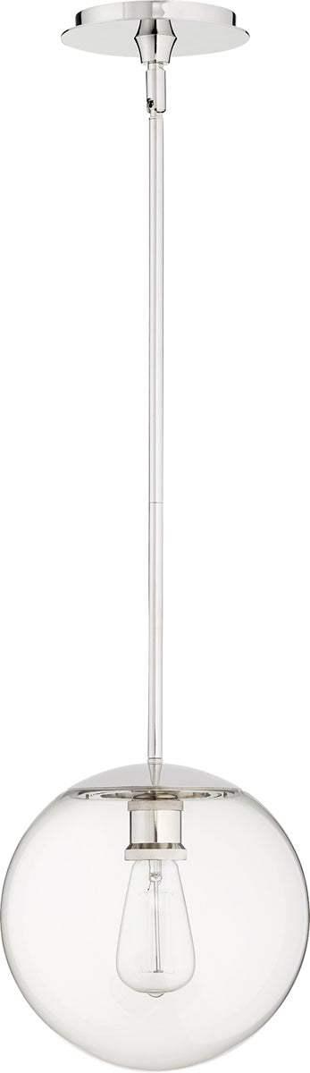 "10""W 1-light Pendant Polished Nickel"