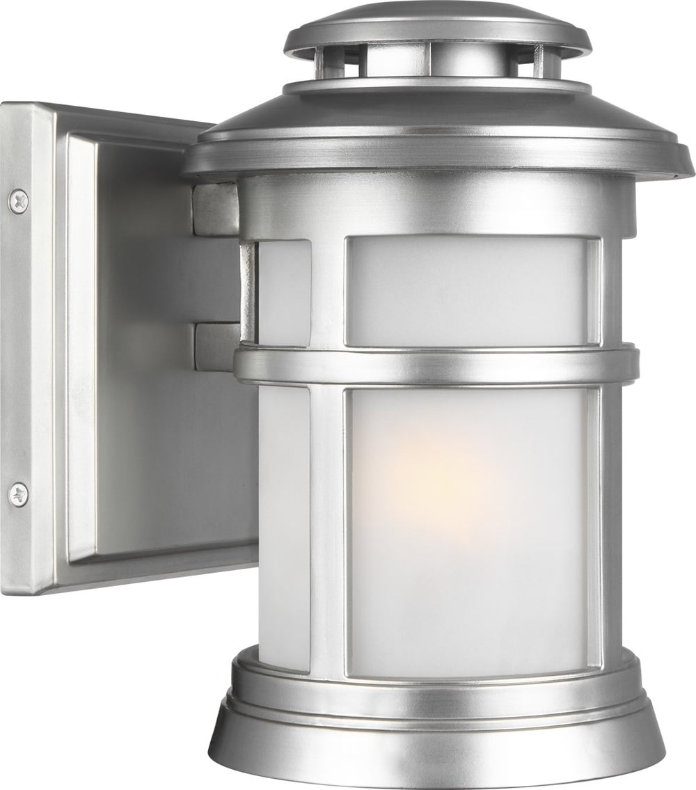 "9""H Newport 1-Light Wall Lantern Painted Brushed Steel"