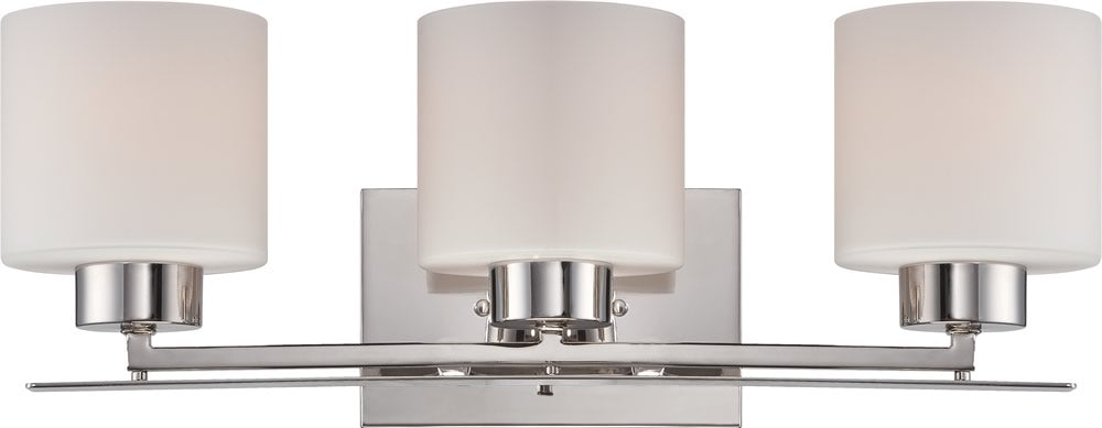 "21""W Parallel 3-Light Vanity & Wall Polished Nickel"