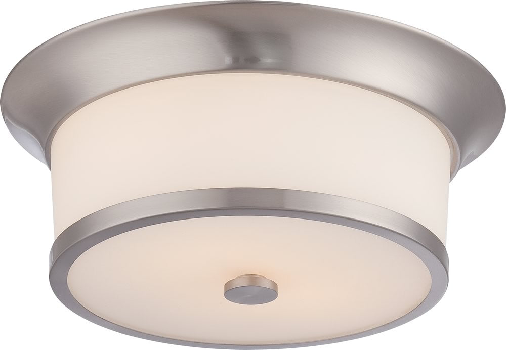 "13""W Mobili 2-Light Close-to-Ceiling Brushed Nickel"