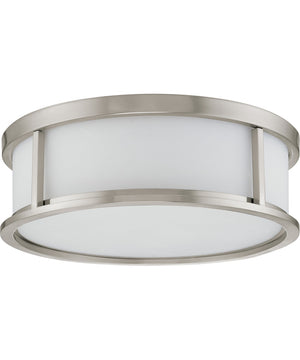 "15""W Odeon  Close-to-Ceiling Brushed Nickel"