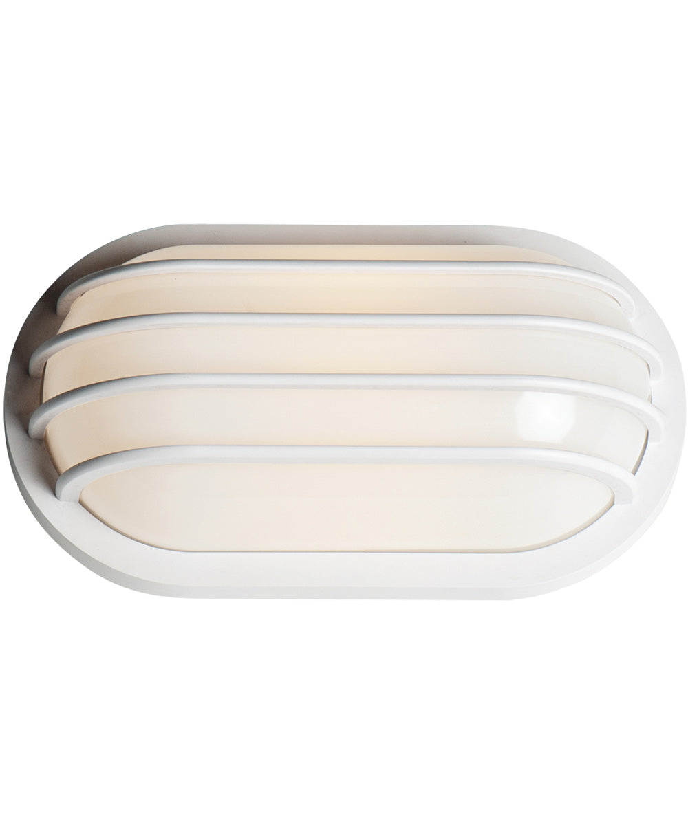 "6""H Bulwark LED 1-Light Outdoor Wall Sconce White"