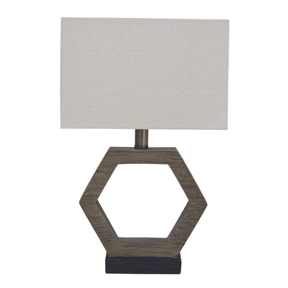 "19""H Marilu Poly Table Lamp (1/CN) Gray/Brown"