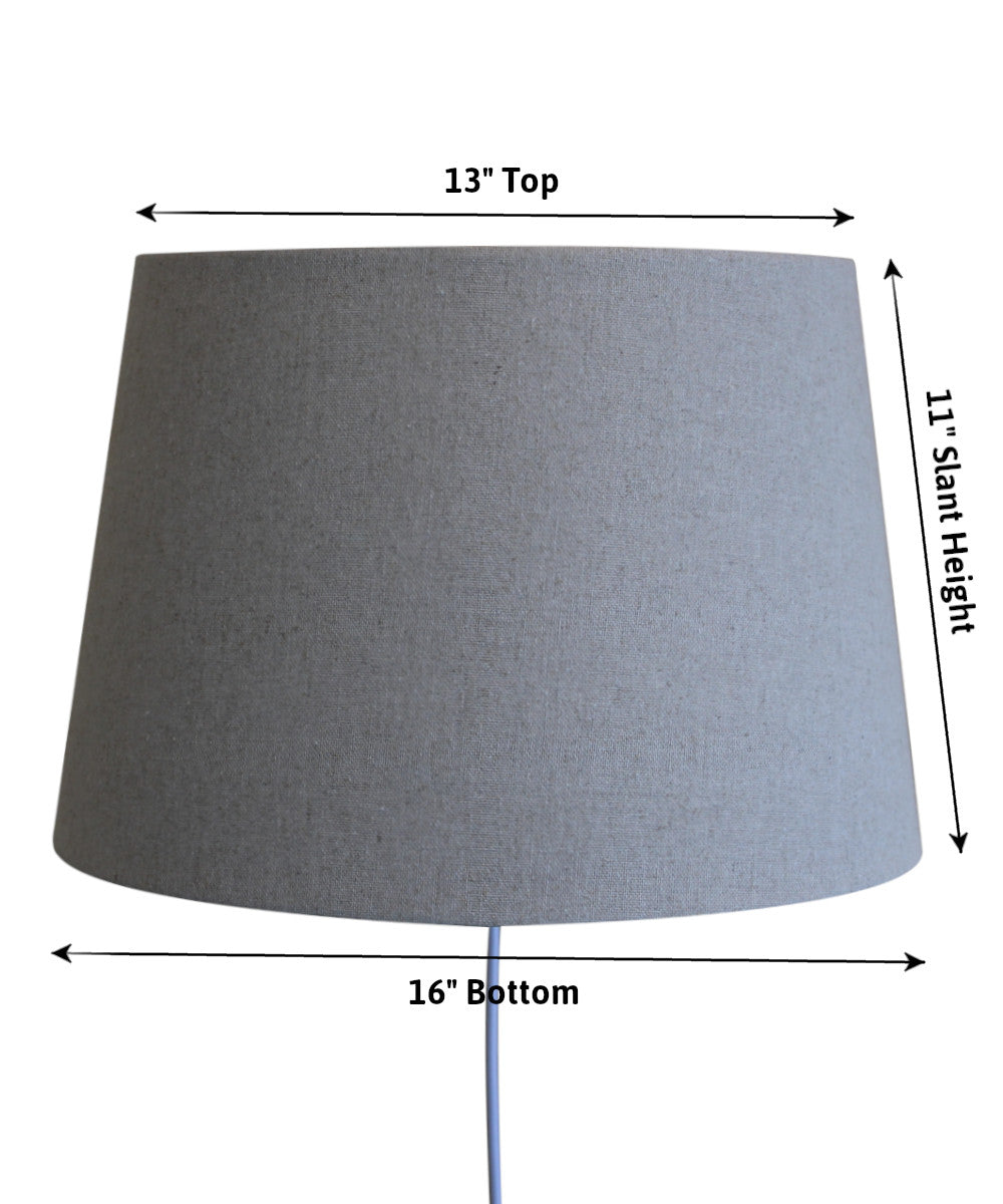 "16""W Floating Shade Plug-In Wall Light Sand Linen"