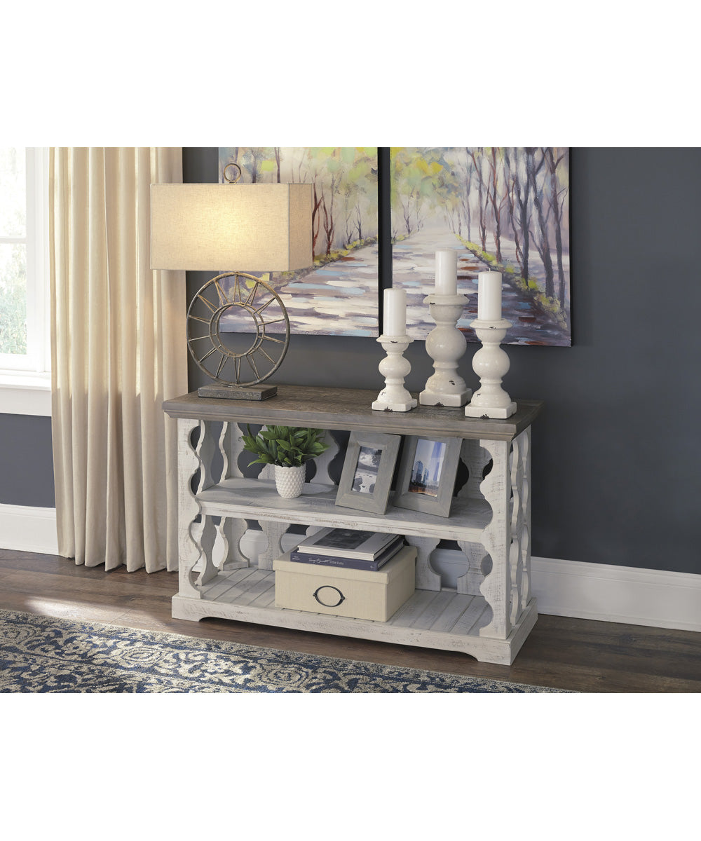 "28""H Havalance Console Sofa Table Gray/White"