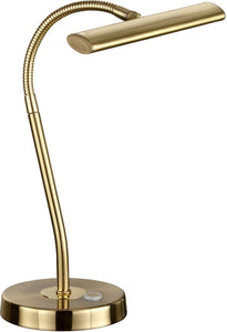 "14""H Curtis LED Desk Lamp Brass-Matte"
