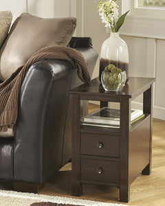 Marion Chair Side End Table Dark Brown