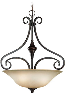 0-005090>Torrey 3-Light Pendant Light Burnished Armor