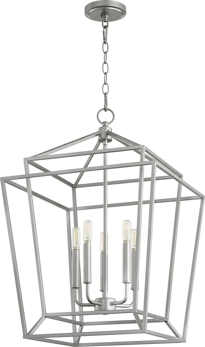 "18""W Monument 5-light Entry Foyer Hall Chandelier Classic Nickel"