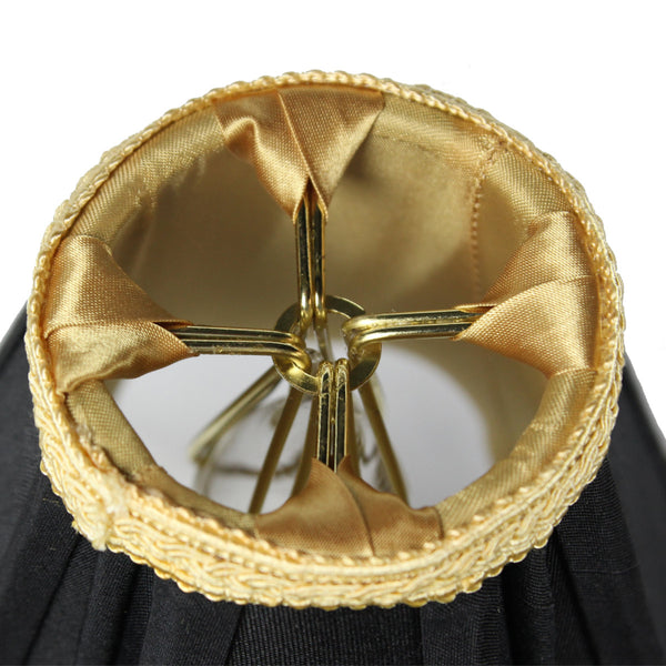 2x5x5 Black With Gold Liner Chandelier Clip On Lampshade