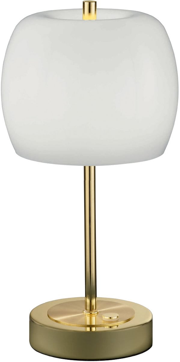Pear LED Table Lamp Polished Brass