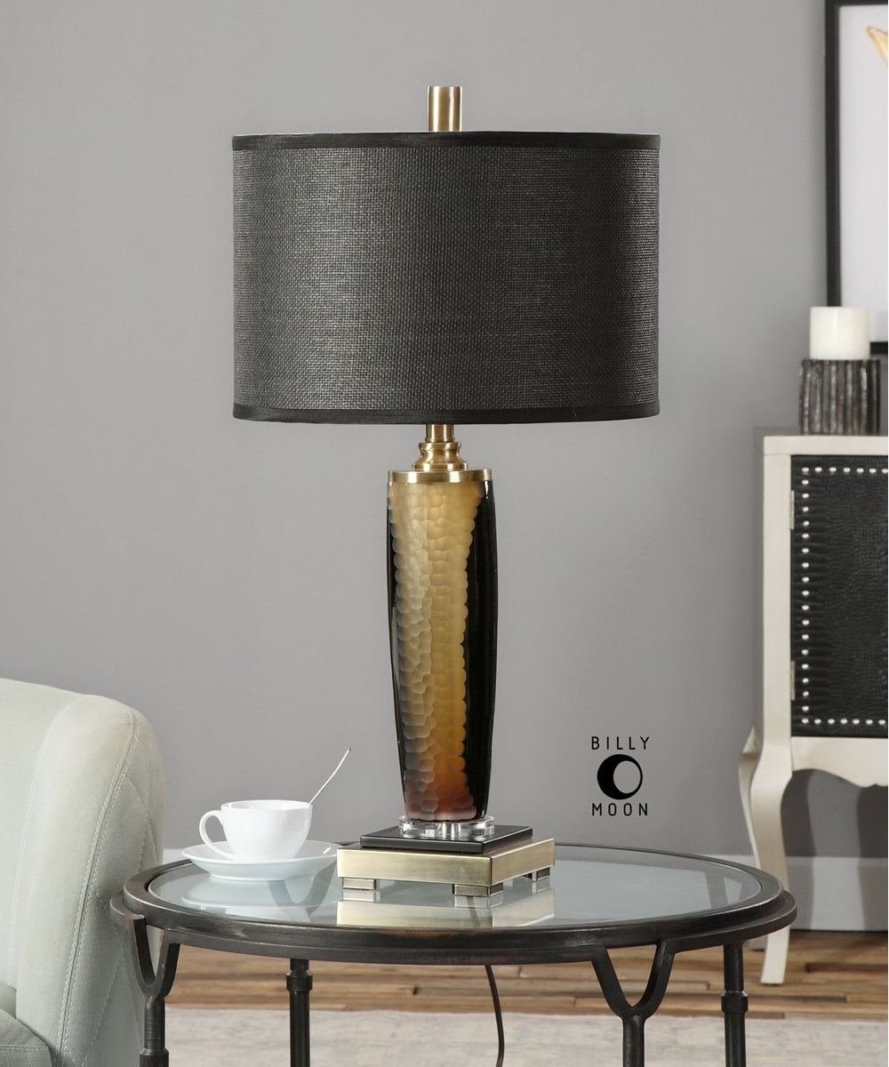 "28""H Circello Textured Glass Table Lamp"