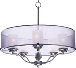 "26""W Lucid 5-Light Pendant Satin Nickel"