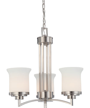 "20""W Harmony 3-Light Chandelier Brushed Nickel"