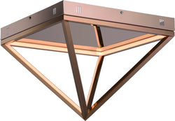 0-002060>Pyramid LED Flush Mount Rose Gold