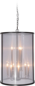 "20""W Danbury 9-Light Foyer Light Matte Black"