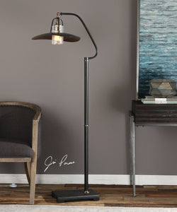 "62""H Arkutino Black Iron Floor Lamp"