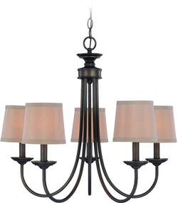 Spencer 5-Light Chandelier Bronze