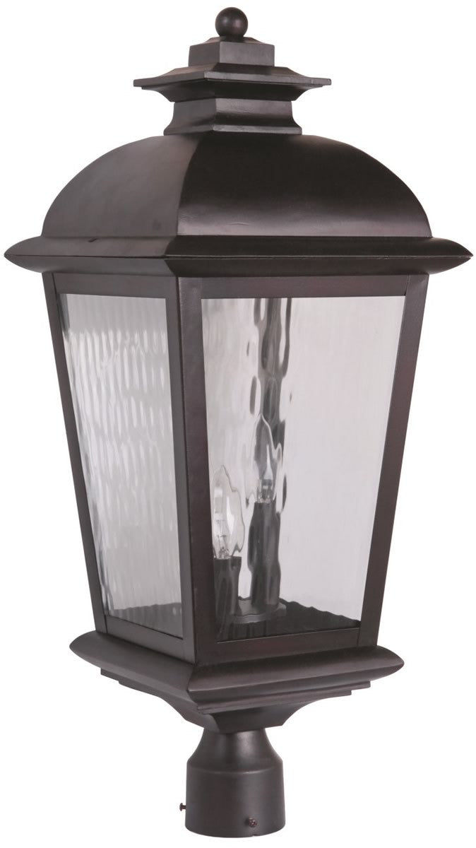 "25""H Branbury 3-Light Outdoor Post Light Oiled Bronze"