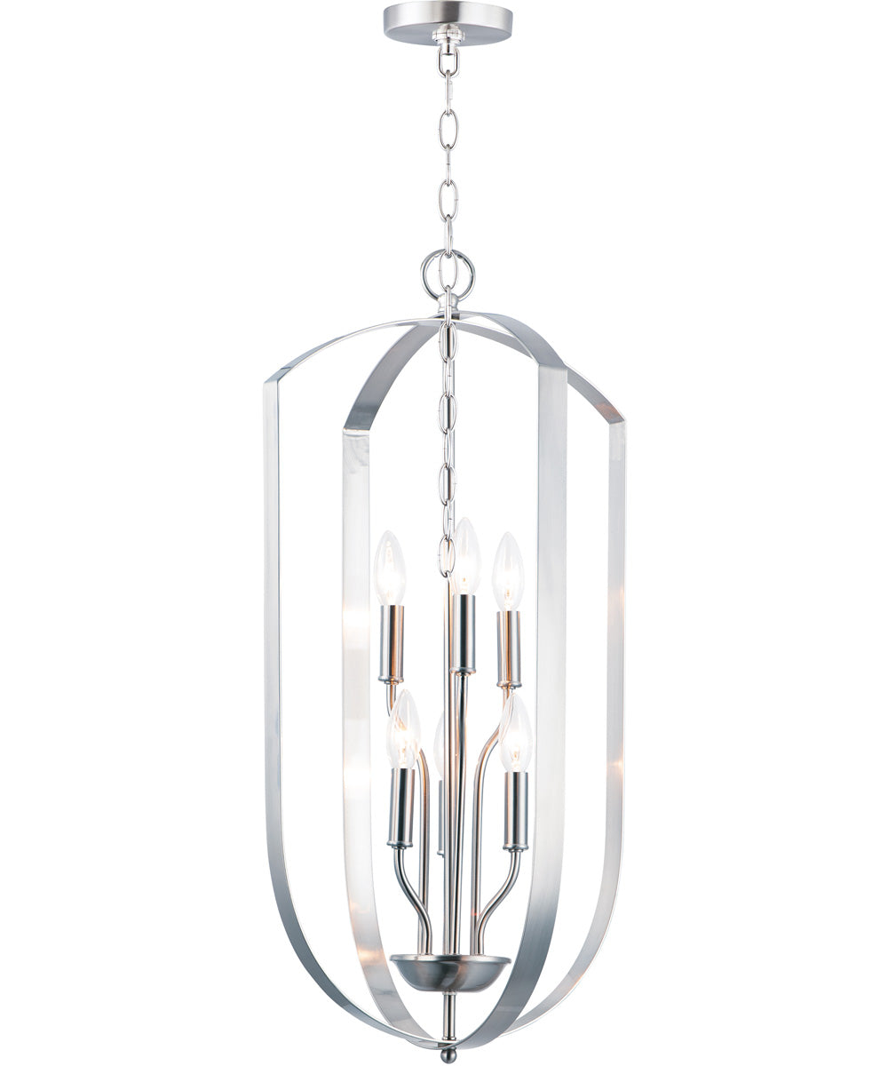 "15""W Provident 6-Light Chandelier Satin Nickel"