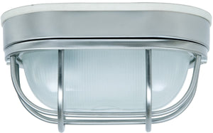 "5""W Bulkhead 1-Light Outdoor Flush Mount Stainless Steel"