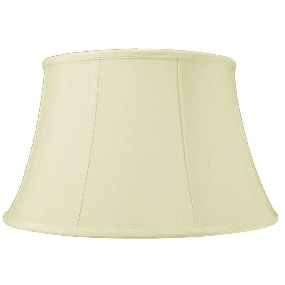 "17""W x 10""H SLIP UNO FITTER Egg Shell Floor Shantung Lampshade"