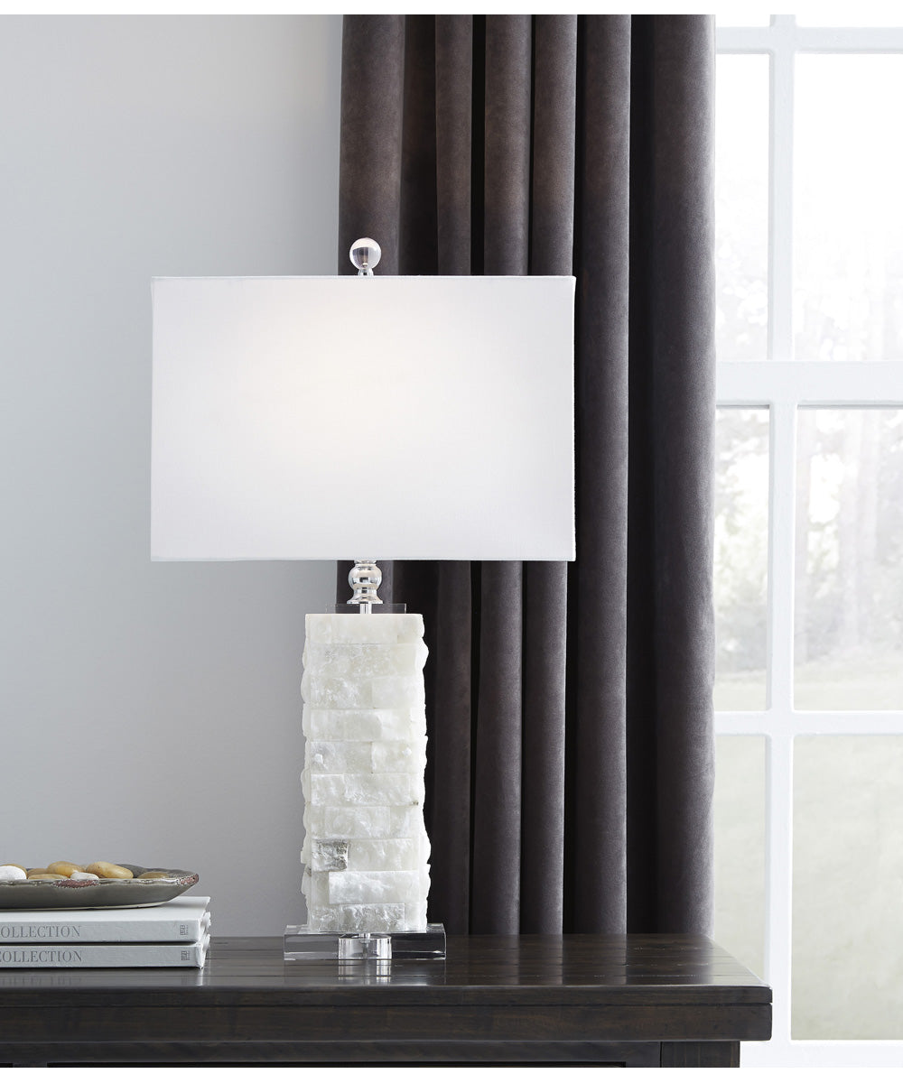 "27""H Malise Alabaster Table Lamp (1/CN) White"