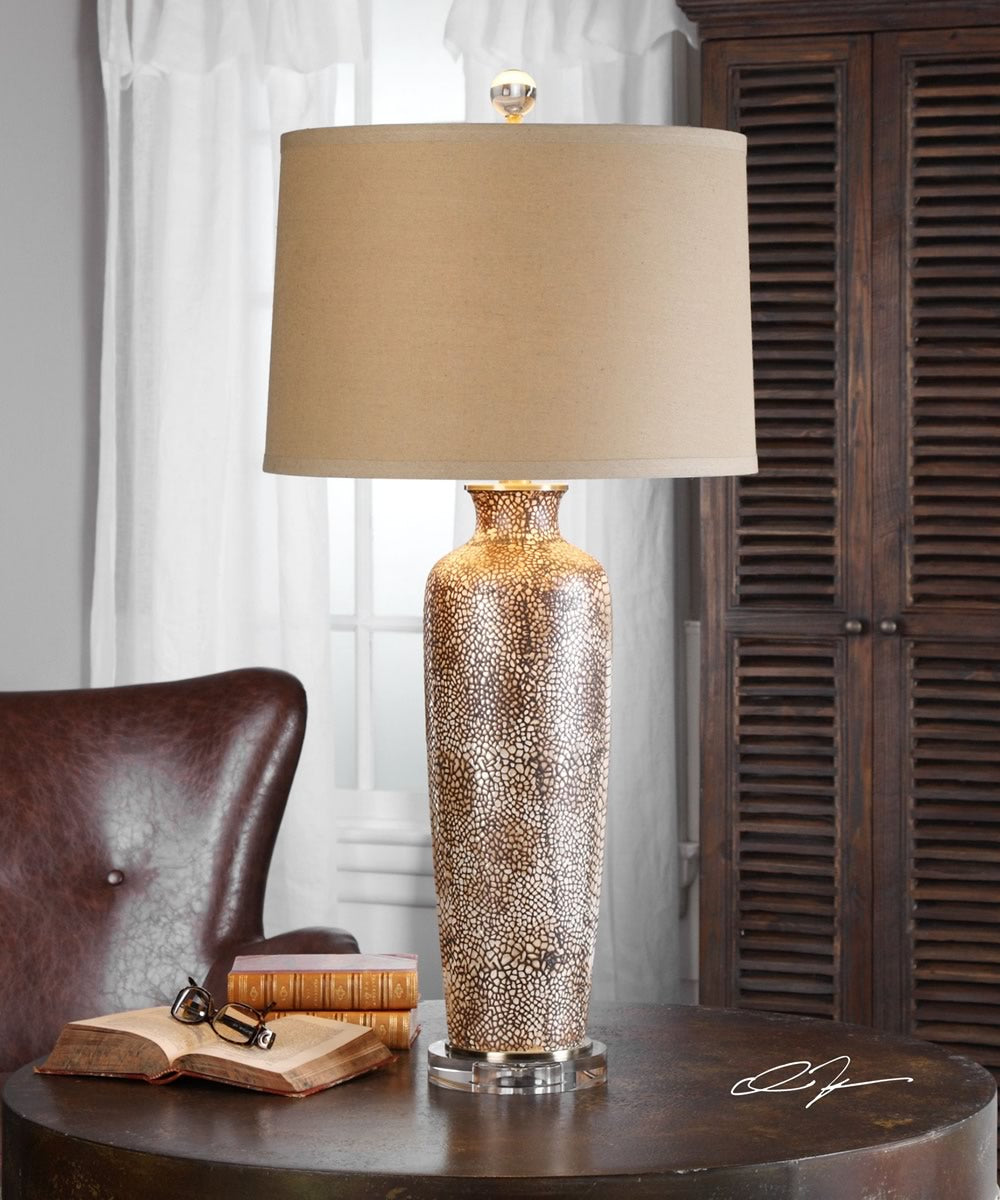 "33""H Reptila Textured Ceramic Lamp"
