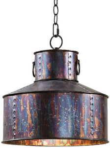 0-026159>Giaveno 1-Light Drum Pendant Oxidized Bronze