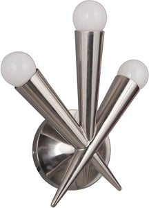 0-002140>Nova 3-Light Wall Sconce Polished Nickel