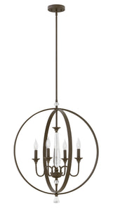 Waverly 4-Light Stem Hung Single Tier in Oil Rubbed Bronze