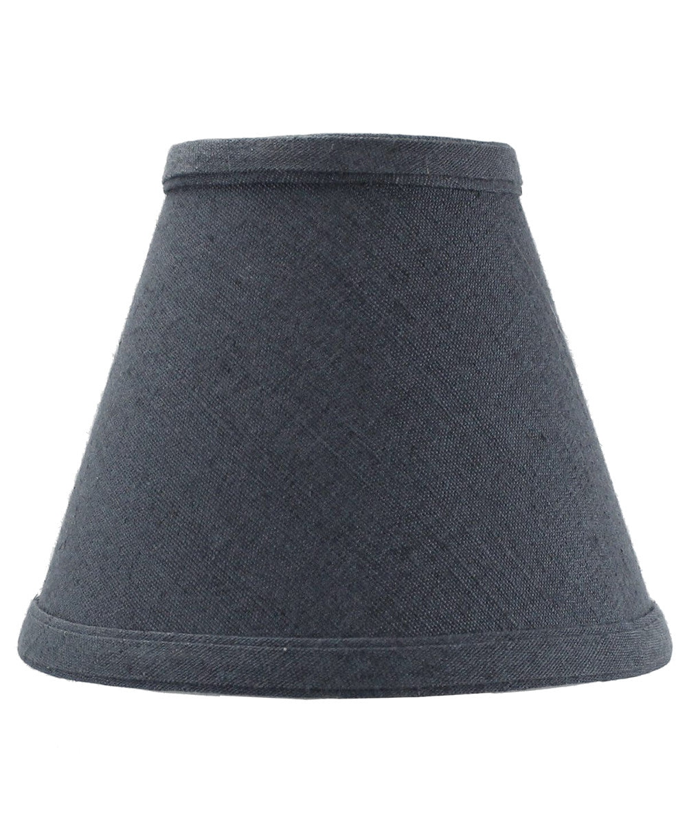 "6""W x 5""H Textured Slate Blue Chandelier Lamp Shade -"