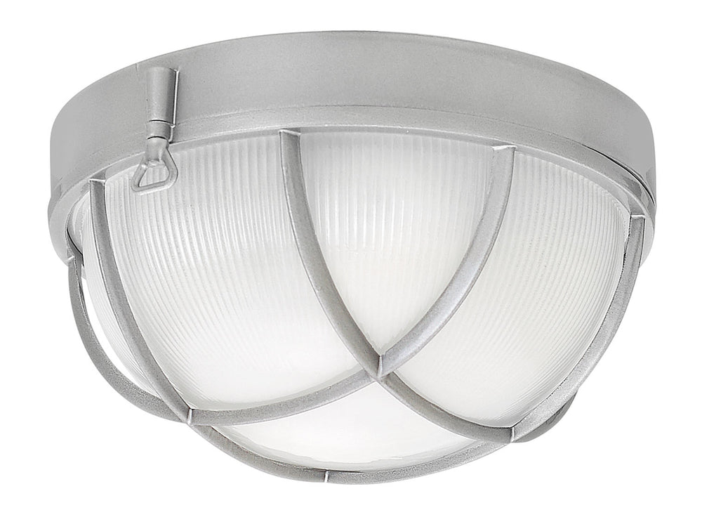Marina 2-Light Outdoor Flush Mount in Hematite