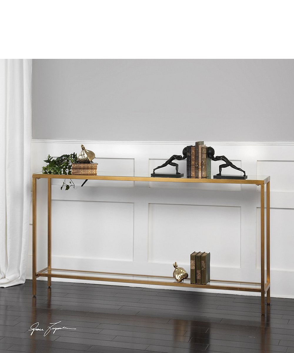 "30""H Hayley Gold Console Table"