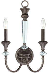 0-006285>Boulevard 2-Light Wall Sconce Mocha Bronze/Silver Accents