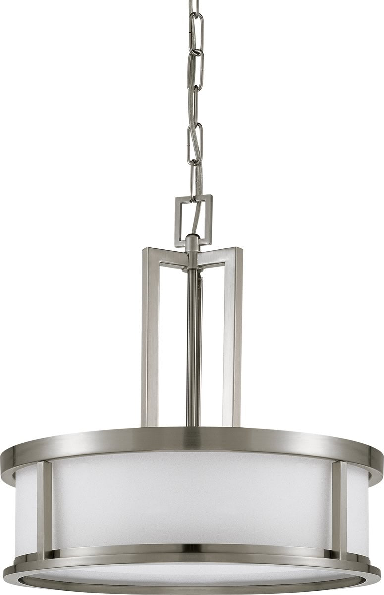 "17""W Odeon 4-Light Pendant Brushed Nickel"