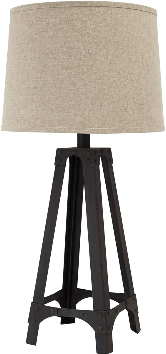 "33""H 1-Light 3-Way Table Lamp Brown"