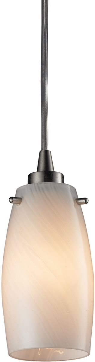 "3""W Favelita 1-Light Pendant Satin Nickel/Cocoa Glass"