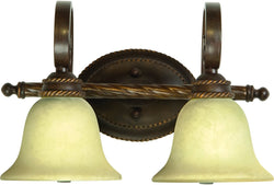 0-009690>Riata 2-Light Bath Vanity Light Aged Bronze Textured