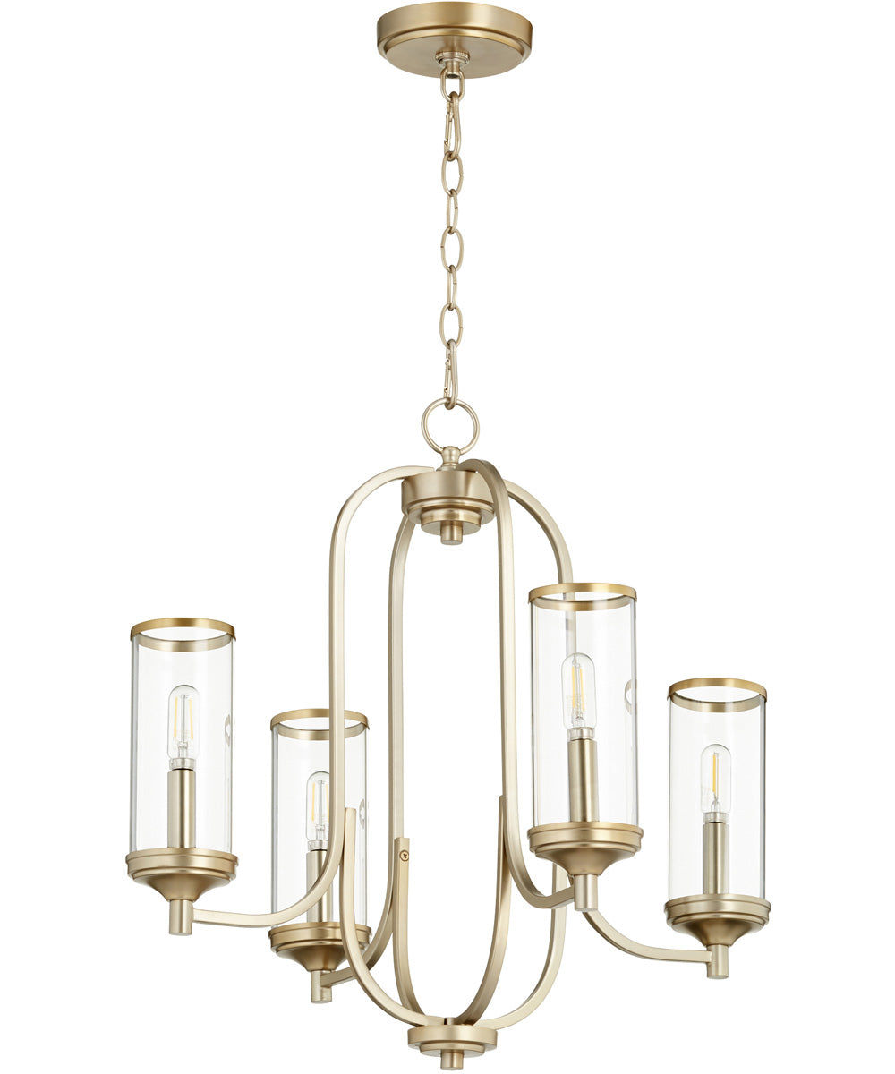 "22""W Collins 4-light Chandelier Aged Brass"
