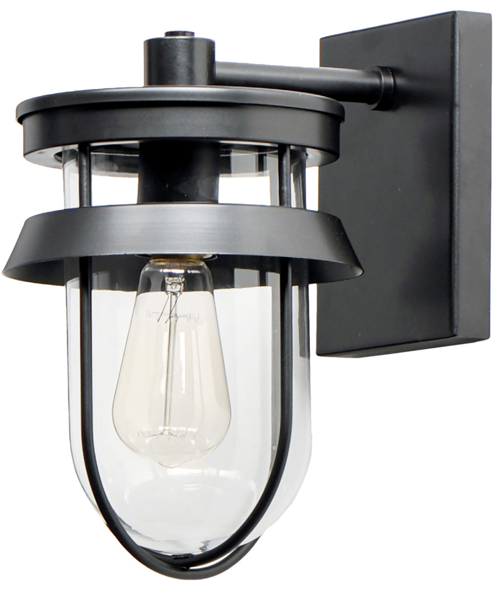 "11""H Breakwater 1-Light Outdoor Wall Sconce Light Black"