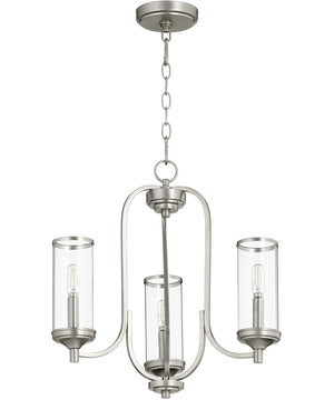 "19""W Collins 3-light Chandelier Satin Nickel"