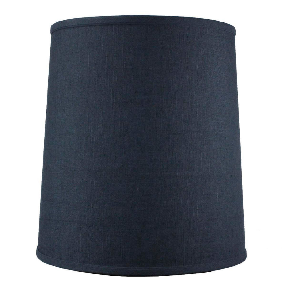 "14""W x 15""H Drum Lamp Shade Textured Slate"