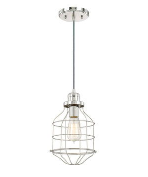 "7.5""W Daudin 1-Light Pendant Polished Nickel"